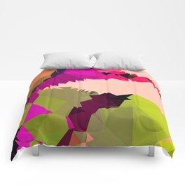 tropical abstract dragon Comforters