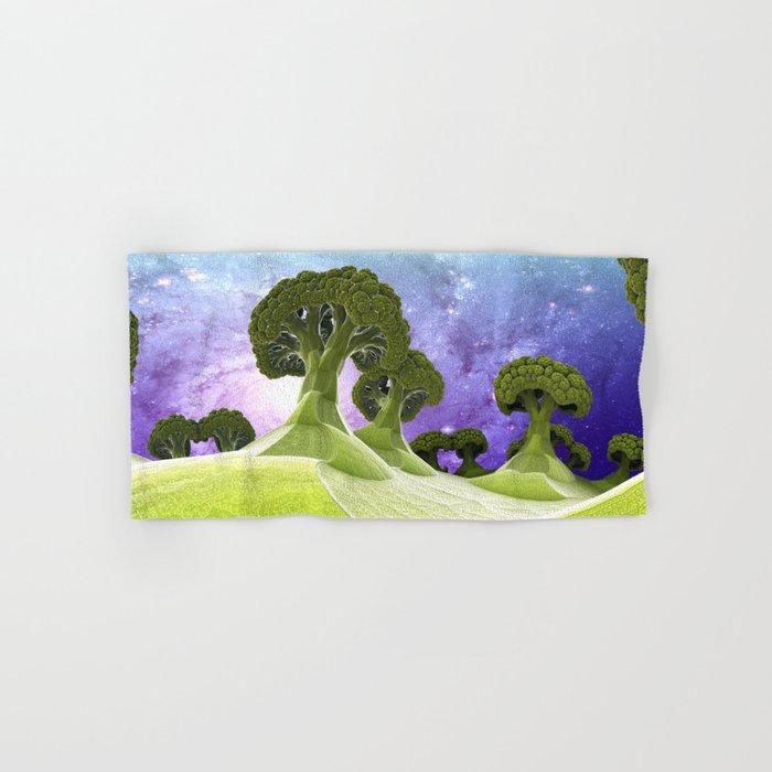 Broccoli Planet / / #fractal #fractals #3d Hand & Bath Towel