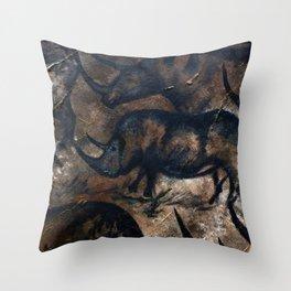 Deep Cave Rhino Throw Pillow