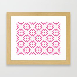 Abstract Pink Daisies Framed Art Print