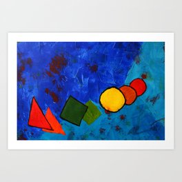 Colorful Space Art Print
