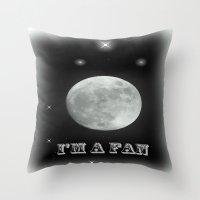 lunar Throw Pillows featuring LUNAR by Laake-Photos
