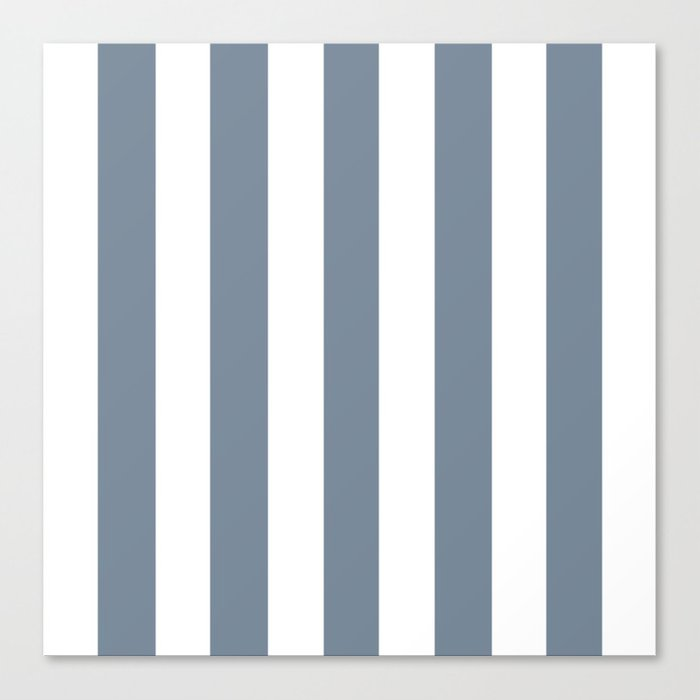 Light Slate Gray Solid Color White Vertical Lines Pattern Canvas Print By Makeitcolorful Society6