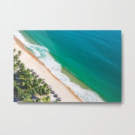 Aerial view of Nha Trang city beach Metal Print