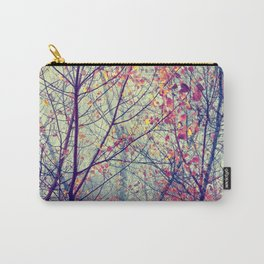 trees misty morning Carry-All Pouch