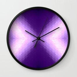 Purple Lavender Texture Ombre X Pattern Wall Clock