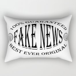 Fake News badge (black on white) Rectangular Pillow