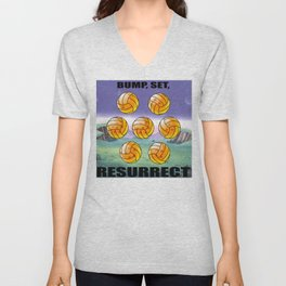 Bump, Set, Resurrect Unisex V-Neck