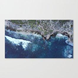 Rocky Ocean Aerial Canvas Print