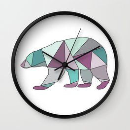 Mint Chip Polar Bear Wall Clock