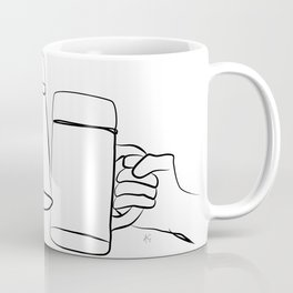 """"""" Kitchen Collection """" - Two Hands Holding Beer Glasses Coffee Mug"""