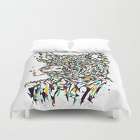 smoking Duvet Covers featuring Smoking by mary wong ting fung