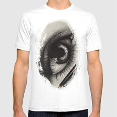 3 Pencils. 1 Hour 10 Minutes Drawing an Eye Mens Fitted Tee White MEDIUM