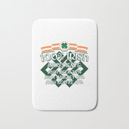 100% Irish Ingredients Beer Whiskey Coffee Gift Bath Mat