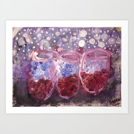 A GLASS OF RED AND BLUE Art Print