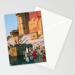 12,000pixel-500dpi - Yoshida Hiroshi - The Ghat At Varanasi - Digital Remastered Edition Stationery Cards