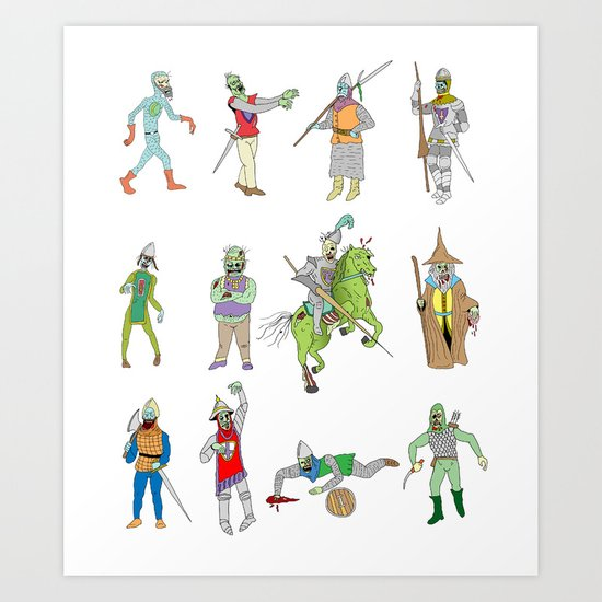 Knights of the Living Dead Art Print