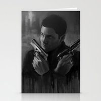 winchester Stationery Cards featuring Dean Winchester by Iulia Rontu