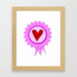 Love Heart Rosette Framed Art Print