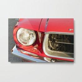Vintage american car detail Metal Print