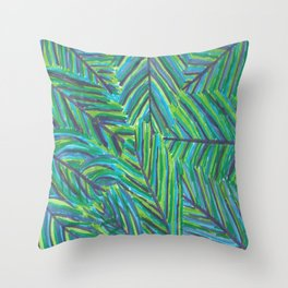 Lush Tropical Nights Throw Pillow