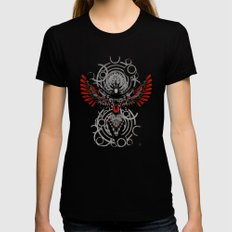Divine Crow Woman SMALL Black Womens Fitted Tee