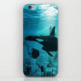 Orcas in Manhattan iPhone Skin