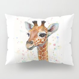 Giraffe Baby Watercolor Pillow Sham