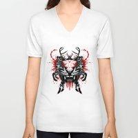 predator V-neck T-shirts featuring Predator by Enkel Dika