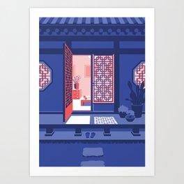 Hanok - Night Art Print
