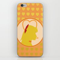 sailor venus iPhone & iPod Skins featuring Sailor Venus by Valerie C. Salmon