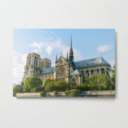 Spring Light on Notre Dame Metal Print