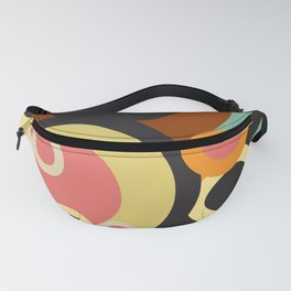 Retro circles pattern / Retro color pallete Fanny Pack