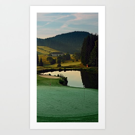 Summer morning at the golf club   landscape photography Art Print