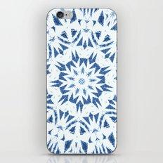 Snowflake Denim & White iPhone & iPod Skin