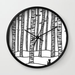 Cat Waits Wall Clock