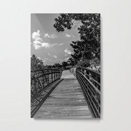 veterans lake bridge Metal Print