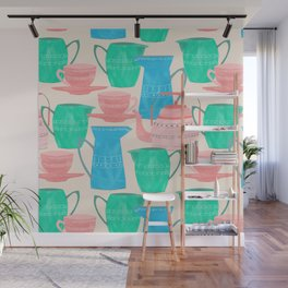 Jugs and Cups Pattern Wall Mural
