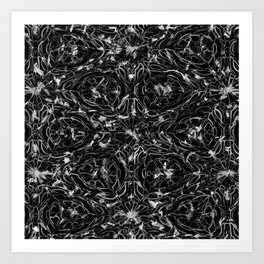 Black and white astral paint 5020 Art Print