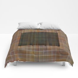 Patched plaid tiles pattern Comforters