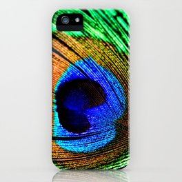 In the Peacock Mood iPhone Case