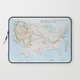 National Parks Trail Map Laptop Sleeve