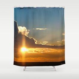 Nostalgic sunset over the Kalahari desert - Landscape Photography #Society6 Shower Curtain