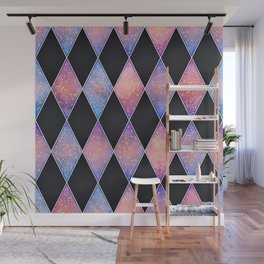 Abstract rich geometric pattern with glitters Wall Mural