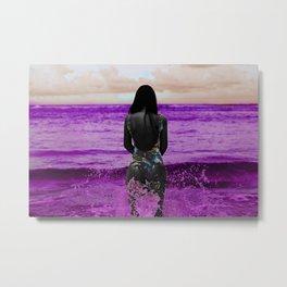 COLOUREDWOMAN - beach , sea , ocean , swim , abstract Metal Print