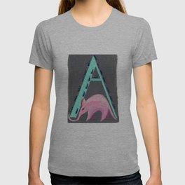 A is for Aardvark Letter Alphabet Decor Design Art Pattern T-shirt