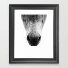 Nose Framed Art Print