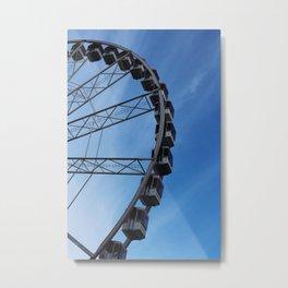 Ferris Wheel Amsterdam Kermis Blue Skies Metal Print