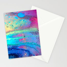 Neon Melt Stationery Cards