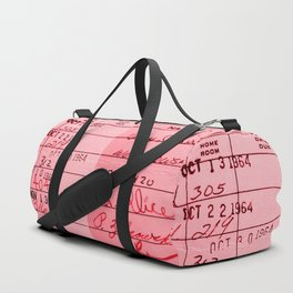 Library Card 23322 Pink Duffle Bag